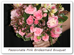 Passionate Pink Bridesmaid Bouquet