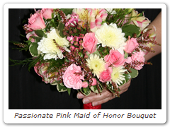 Passionate Pink Maid of Honor Bouquet
